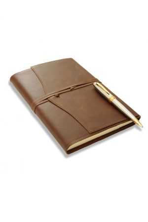 Cross Bailey Ballpoint Pen & Amalfi Large Refillable Leather Journal
