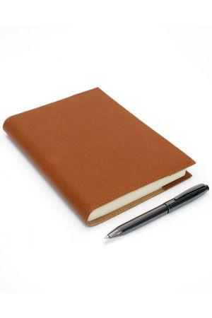 Coles Dryden Gunmetal Ballpoint Pen & Palmi Large Refillable Leather Journal