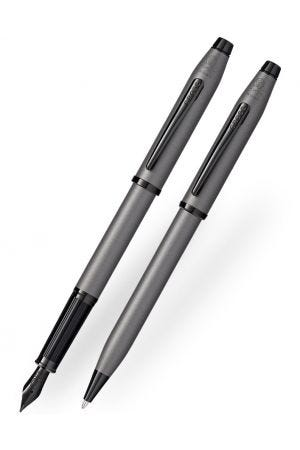 Cross Century II Gunmetal Grey Ballpoint & Fountain Pen Set