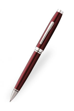 Cross Coventry Red Lacquer Chrome Ballpoint Pen