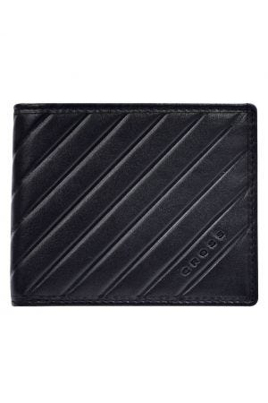 Cross Grabado Over Flap Coin Wallet - Black