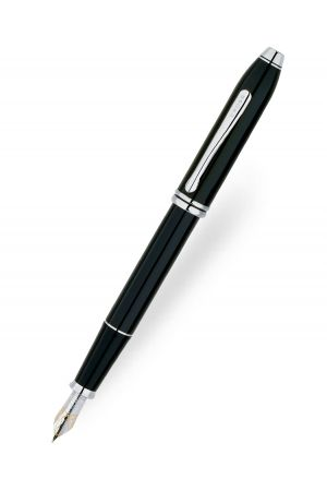 Cross Townsend Black Lacquer/Rhodium Plated Fountain Pen