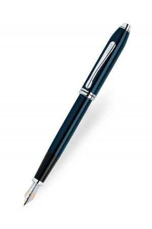 Cross Townsend Quartz Blue Lacquer Fountain Pen