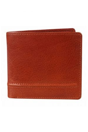 Dents Leather Billfold Wallet Cognac