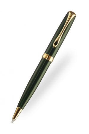 Diplomat Excellence Evergreen Gold Trim Ballpoint Pen