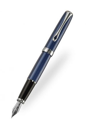 Diplomat Excellence Midnight Blue Chrome Trim Fountain Pen