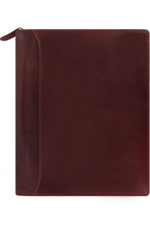 Filofax Lockwood A5 Zip Organiser - Garnet Red