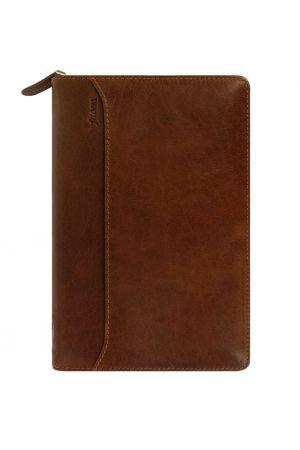 Filofax Lockwood Personal Zip Organiser - Cognac