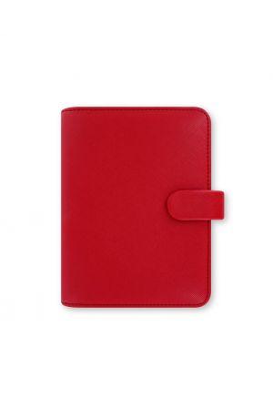 Filofax Saffiano Pocket Organiser - Poppy