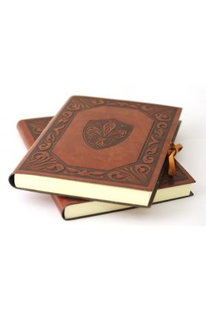 Fleur D'Lys Large Leather Journal