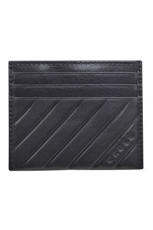 Cross Grabado Espanol Credit Card Holder - Black