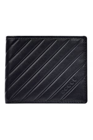 Cross Grabado Espanol Slim Wallet - Black