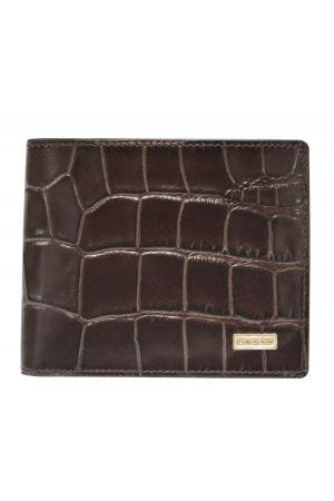 Cross Croco Signature Slim Billfold Wallet - Brown