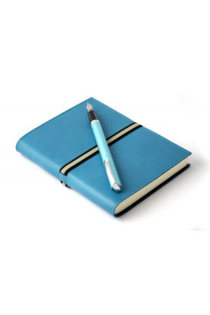 Online Turquoise Fountain Pen & Abruzzi Medium Leather Journal