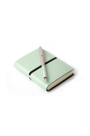OHTO Pink Fountain Pen & Ravello Mint Leather Journal