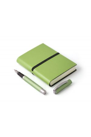 Online Green Fountain Pen & Ravello Small Leather Journal