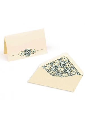 Kartos Set of 10 Medium Folded Cards & Envelopes - Quadrilobo