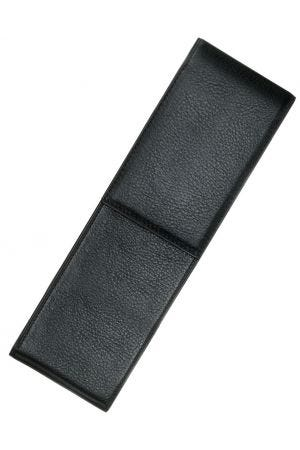 Lamy A202 Grained Leather 2 Pen Case - Black