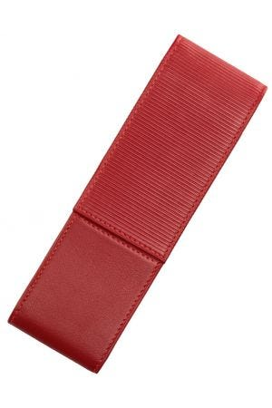Lamy A315 Nappa Leather 2 Pen Case - Red