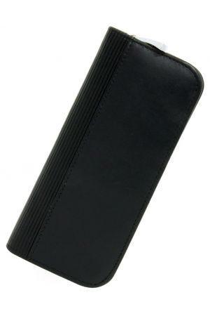 Lamy A403 Leather 2 Pen Zip Case - Black