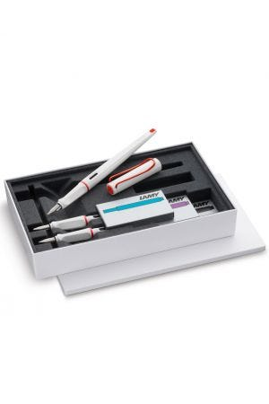 Lamy Joy Special Edition White & Red Calligraphy Pen Set
