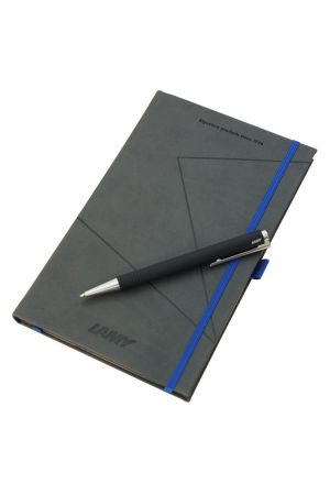Lamy Logo Black Ballpoint Pen & Notebook Gift Set