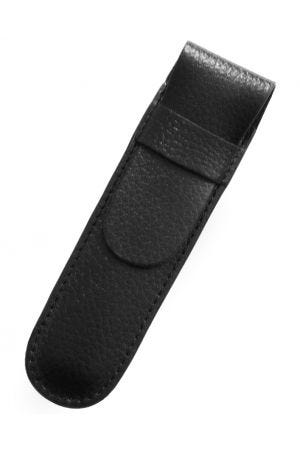 Laurige Leather 1 Pen Case - Black