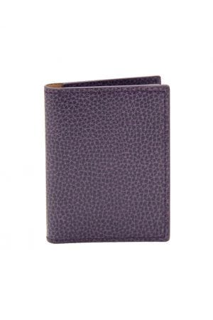 Laurige Leather Credit Card Holder - Aubergine