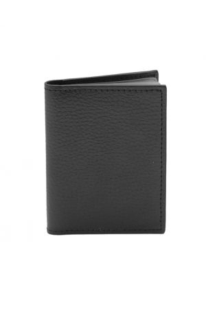 Laurige Leather Credit Card Holder - Black