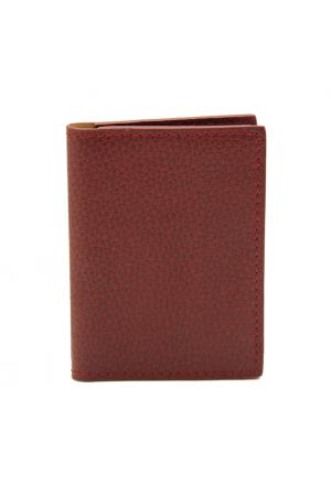 Laurige Leather Credit Card Holder - Burgundy