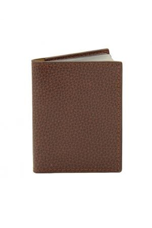 Laurige Leather Credit Card Holder - Chocolate Brown