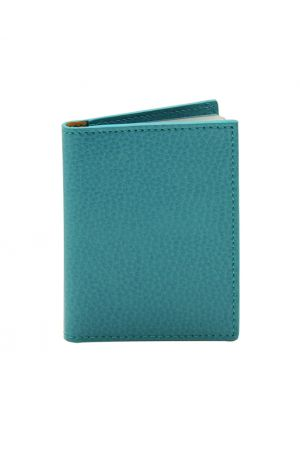Laurige Leather Credit Card Holder - Turquoise