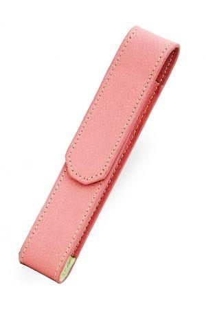 Laurige 712 Leather 1 Pen Case - Pastel Rose