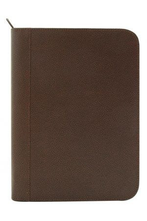 Laurige A4 Leather Pad Portfolio - Chocolate Brown