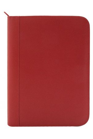 Laurige A4 Leather Pad Portfolio - Red