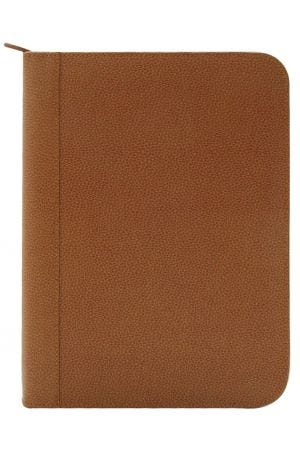 Laurige A4 Leather Pad Portfolio - Tan