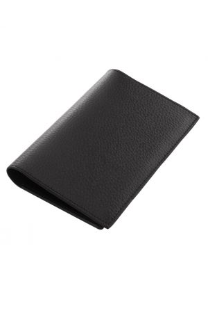 Laurige Leather Passport & Travel Documents Holder - Black