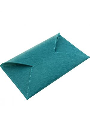 Laurige Leather Travel Envelope - Turquoise