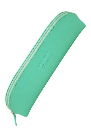 Laurige Leather Pencil Case - Pastel Mint