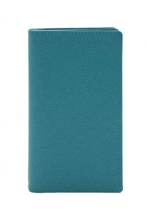 Laurige Leather Wallet & Travel Document Holder - Turquoise