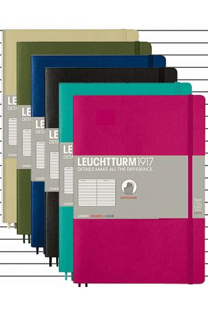Leuchtturm1917 B5 Soft Cover Notebook - Lined Paper
