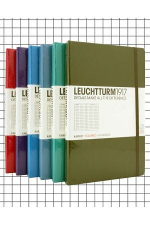 Leuchtturm1917 Medium Hard Cover Notebook - Squared Paper