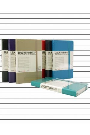 Leuchtturm1917 Pocket Hard Cover Notebook - Lined Paper
