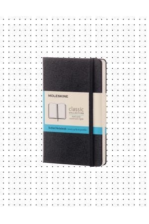 Moleskine Hard Cover Pocket Notebook - Black, Dotted
