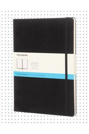 Moleskine Hard Cover Extra Large Notebook - Black, Dotted
