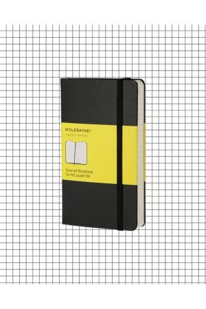 Moleskine Hard Cover Pocket Notebook - Black, Squared
