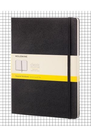 Moleskine Hard Cover Extra Large Notebook - Black, Squared