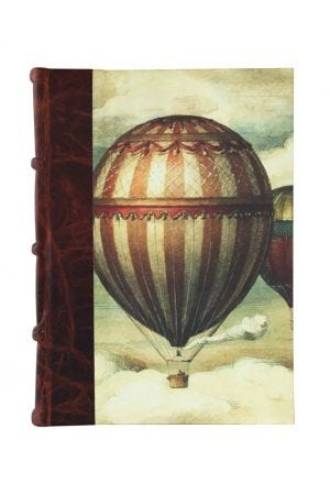 Bomo Art Large Half Leather Bound Journal - Balloons