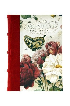 Bomo Art Large Half Leather Bound Journal - Roses