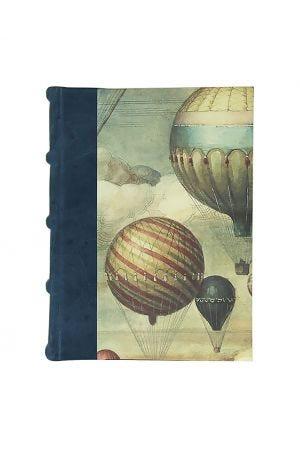 Bomo Art Medium Half Leather Bound Journal - Balloons